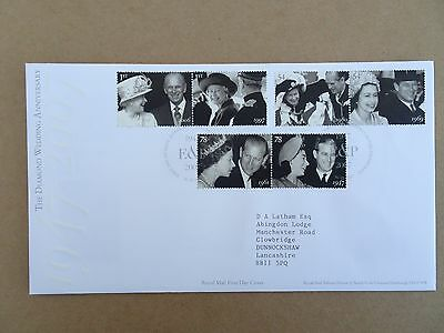 "Gb Fdc 2007"" Diamond Wedding"" Stamps Royal Mail First Day Cover"