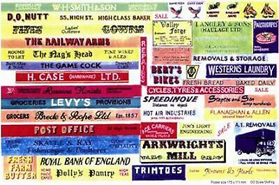 Shop pub name signs lge Paper Copies Old Enamel OO Scale Decals SMFlrg