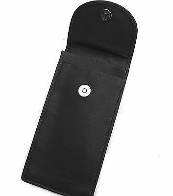 Quality Black Double Soft Leather Glasses / Spectacle Case by Odyssey - 560