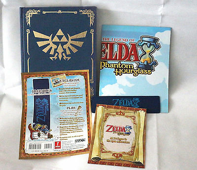 The Legend of Zelda: Phantom Hourglass Strategy Game Guide Book + map