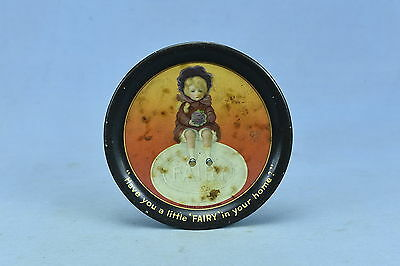 Antique ADVERTISING 1910's FAIRBANKS FAIRY SOAP TIN LITHOGRAPH TIP TRAY GIRL OLD