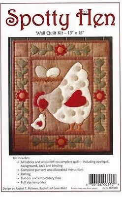 Spotty Hen Wall Quilt Kit New Craft Appliqué