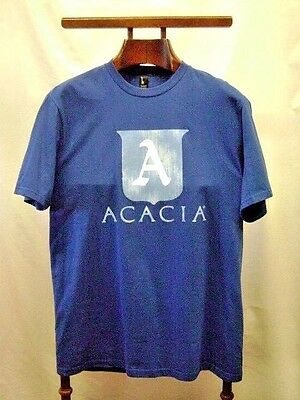 T-Shirt Acacia Blue Men's Short Sleeve 100% Cotton XL New Old Stock