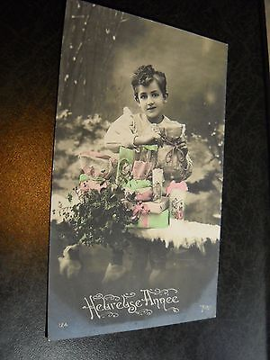 Antique Happy Birthday Foreign Postcard