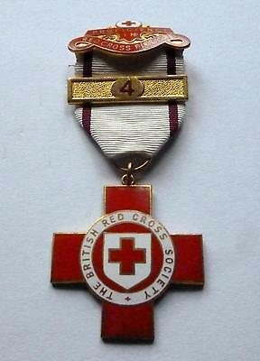 BRITISH RED CROSS FIRST AID MEDAL / NAMED-  BOWRING / No 4 CLASP