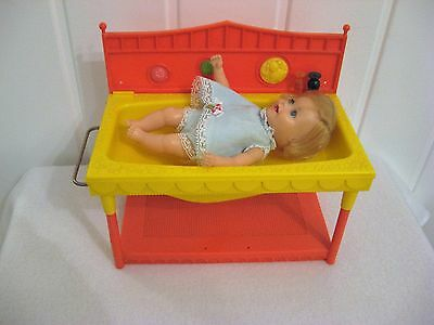 Vintage Suzy Cute Baby Doll with Basinette