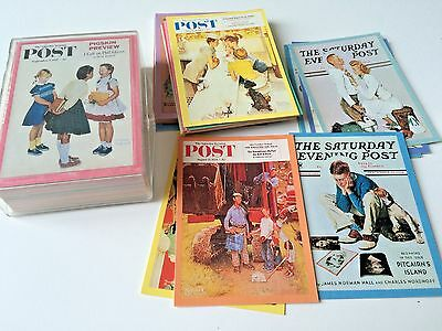 Norman Rockwell - Collectors Art Cards - Saturday Evening Post Covers Lot