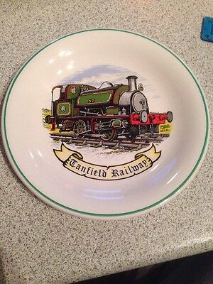 Tanfield Railway Plate 7.5 Inches Green Engine NZ Immaculate Plate