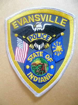 Patches: EVANSVILLE STATE OF INDIANA US POLICE PATCH (NEW*11.5x10cm)