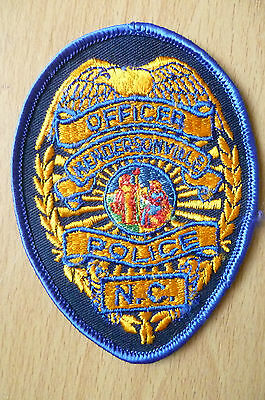 Patches: MENDERSONVILLE NC POLICE PATCH (NEW,apx.4x3.14 inch)