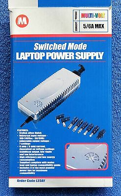 Switched Mode 120W Laptop Power Supply, boxed, complete, fuly working