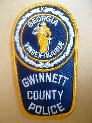 Patches:GEORGIA GWINNETT COUNTY USA POLICE PATCH (NEW* apx.13x7.8 cm)