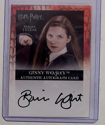 Harry Potter-H&V-Bonnie Wright-Ginny Weasley-Signature-Autograph Card-AUTHENTIC