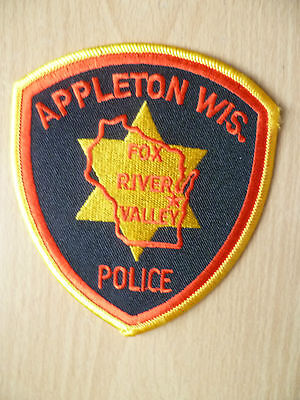 Patches: APPLETON WIS FOX RIVER VALLEY POLICE PATCH (NEW, apx. 4.6x4 inch)