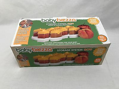 Baby Brezza Storage system OCTO 8 Piece With Tray. New In Box. Yellow Top.