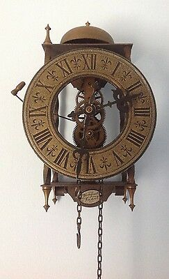 West German Skeleton Wall Clock for Parts
