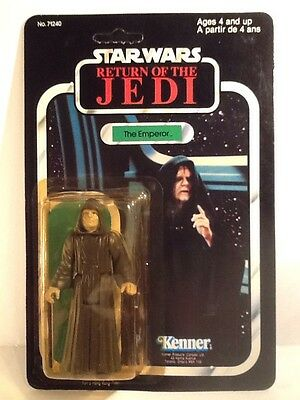 Star Wars 1983 ROTJ  The Emperor Unpunched Carded Figure