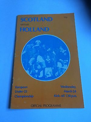 Scotland Under 23 v Holland Under 23 .24/3/?