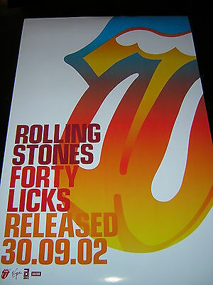 Original Rolling Stones Promotional Poster - Forty Licks