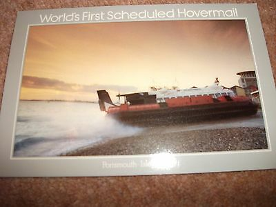 Isle Of Wight First Scheduled Hovermail   Hovercraft  Postcard 1981 Portsmouth