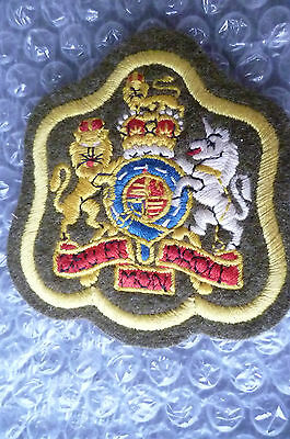 Patches- Corps of Army Dieu Et Mon Droit Badge– Yellow;General Service Corp(New)
