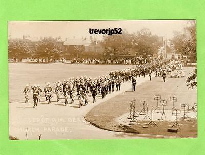 Military Band Depot Royal Marines Deal Church Parade unused RP pc Ref A852