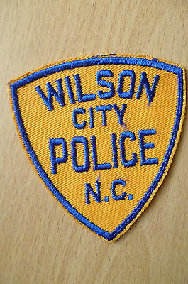 Patches: WILSON CITY NORTH CAROLINA NC POLICE PATCH (NEW,apx.3.10x3.8 inch)