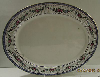 """Large 18.25"""" x 14.5"""" Booths of England Floral Platter"""