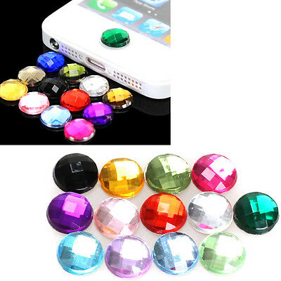10x Rhinestone Decal Home Button Stickers for Apple iPod iPhone 3GS 4G 4S 5 5G