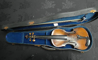 Antique Violin Stamped Name On The Neck