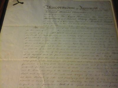 Memorandum Of Agreement Document, Buying Land For Ely Valley Railway Line, 1860