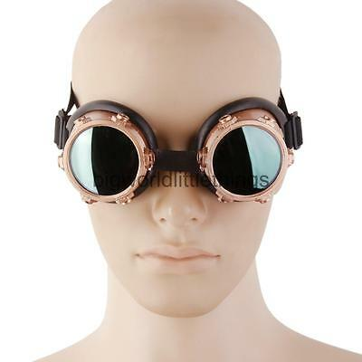 Vintage Gothic Steampunk Goggles Cosplay Photo Fancy Costume Glasses Bronze