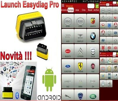 Launch X431 PRO Easydiag 2.0 Bluetooth Scanner Code Reader SRS ABS - ITALIANO
