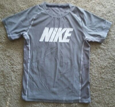 NIKE DRY-FIT Gray Youth Fitness/Athletic Shirt Size L (12/14?) Good Condition