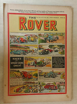 Comic- THE ROVER, NO 1416, 16th August 1952