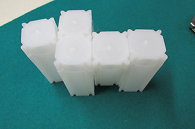 5 New Coin Safe Square Quarter Coin Tubes