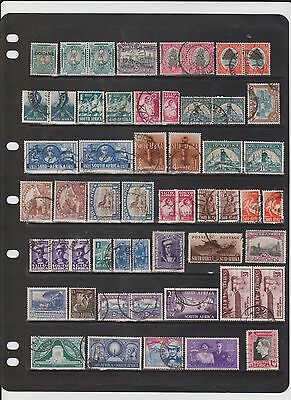 Postage stamps of South Africa, 250+ all different mostly nice fine used.