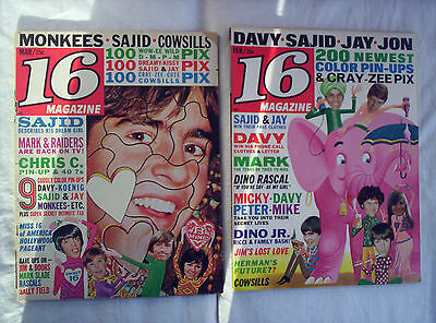 2 X 16 (Sixteen), Magazines, Feb / March 1968,the Doors, Monkees, The Beatles