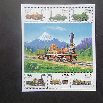 Maldives 1999  Trains  of Yesteryear m/s mnh