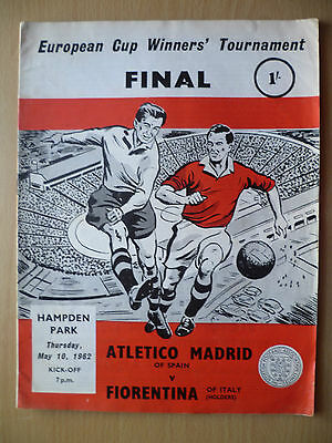 European Cup Winners Cup FINAL 1962- ATLETICO MADRID v FIORENTINA, 10 May
