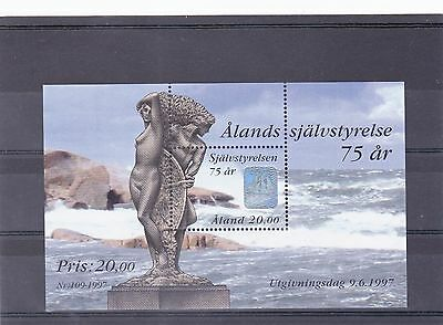 Postage stamps of Aland 1997 75th Anniv of Aland miniature Sheet SG No MS 126.