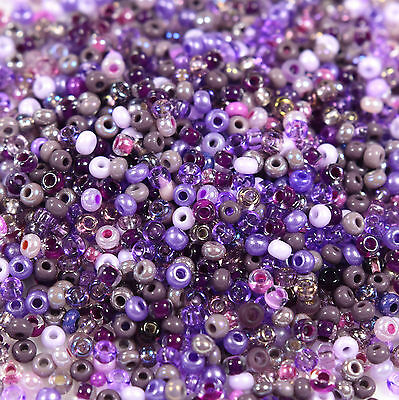 """Czech Glass Seed Beads Size 10/0 """" MIX LAVENDER DREAMS """" Loose 50 Grams"""