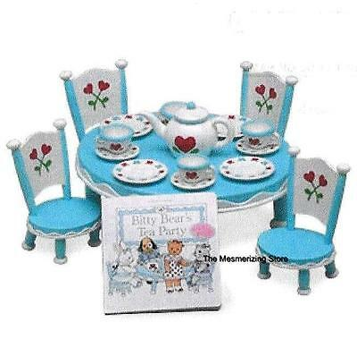 American Girl Bitty Baby BITTY BEAR's TEA PARTY SET with BOOK -  New in Box