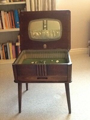 Morco wooden sewing box/table with hinged lid