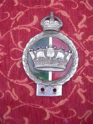 Rare vintage Merchant Navy pre war car mascot badge kings crown enamel grill