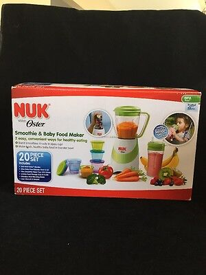 NUK Smoothie and Baby Food Maker, 20 Piece Set, New