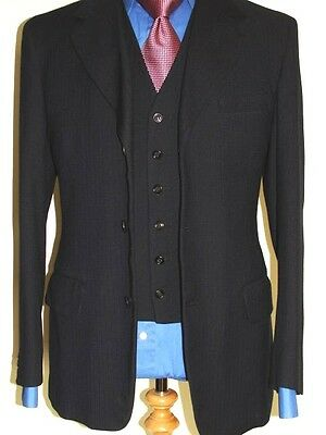 Mens Bespoke Hardy Aimes By Hepworths 3 Piece Vintage Country Suit Uk40 W34 L31