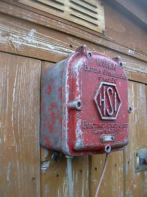 Vintage industrial light switch electric fence box shabby chic architectural