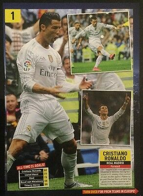 A4 Football picture poster RONALDO, Real Madrid Celebrates (c2014)