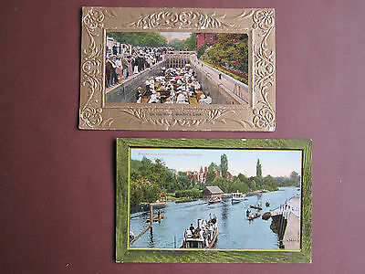 Maidenhead, Boulters Lock - 2 vintage postcards - see below